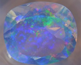 5.05CT  BRILLIANT WATER TRANSPARENT OPAL FACETED GEMSTONE