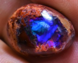 BLUE OPAL 19 carats Mexican Matrix Opal Bright Fire Multi-Color