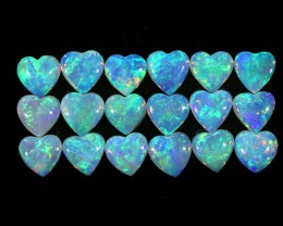 2.35Cts 18pcs matching Crystal Fire opals Calibrated SU1374