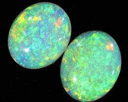 2.75Cts Solid fire opal Coober pedy Pair opals SU1378