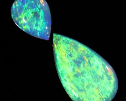 1.13Cts Solid fire opal Coober pedy Pair opals SU1400