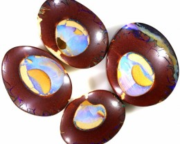 4 PIECE COLLECTABLE  PATTERN PICTURE- QUALITY KOROIT OPALS A2245