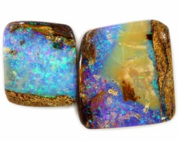 2 PIECES BEAUTIFUL PICTURE- QUALITY BOULDER  OPAL A2234