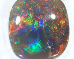 1ct 8.7x7.8mm Solid Lightning Ridge Dark Opal [LO-1081]