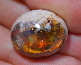 25ct Natural Mexican Matrix CanteraLandscape Fire Opal