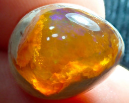 $1 NR Auction 12.3ct Mexican Matrix Cantera Multicoloured Fire Opal