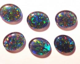 Parcel of 6 Australian Opal Triplets B+ Grade 11x9mm Multicolours (3181)