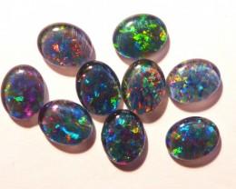 Parcel of 10 Australian Opal Triplets  A grade 10x8mm Multicolours (3184)