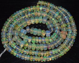 38.45 Ct Natural Ethiopian Welo Opal Beads Play Of Color