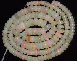 46.65 Ct Natural Ethiopian Welo Opal Beads Play Of Color