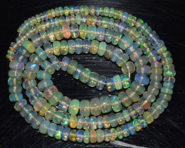 41.75 Ct Natural Ethiopian Welo Opal Beads Play Of Color