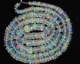 37.00 Ct Natural Ethiopian Welo Opal Beads Play Of Color