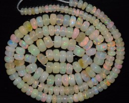50.20 Ct Natural Ethiopian Welo Opal Beads Play Of Color