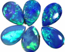1.90CTS  6 OPAL DOUBLET PARCEL DEAL GREAT COLOUR PLAY-A1