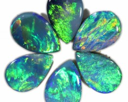 1.45 CTS  6 OPAL DOUBLET PARCEL DEAL GREAT COLOUR PLAY-A4