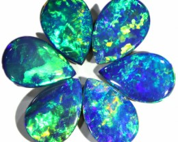 4.78 CTS  6 OPAL DOUBLET PARCEL DEAL GREAT COLOUR PLAY-A5