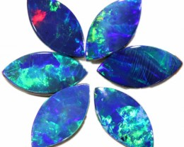 2.27 CTS  6 OPAL DOUBLET PARCEL DEAL GREAT COLOUR PLAY-A6