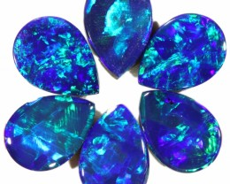 2.70 CTS  6 OPAL DOUBLET PARCEL DEAL GREAT COLOUR PLAY-A8