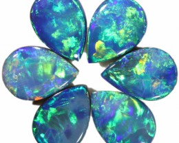 2.77 CTS  6 OPAL DOUBLET PARCEL DEAL GREAT COLOUR PLAY-A10