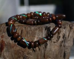 STUNNING 280Ct Blue Green Boulder Opal Necklace