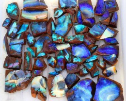 0.668kilo 64pcs Opal cutters Dream Parcel rough boulder Opals. SU1440