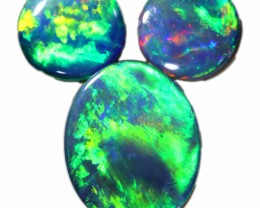2.58 CTS  3 OPAL DOUBLET PARCEL DEAL GREAT COLOUR PLAY-A26