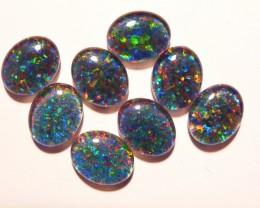 Parcel of 8 Australian Opal Triplets B+ Grade 10x8mm Multicolo