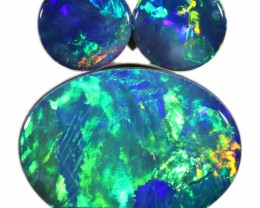 5.42 CTS  3 OPAL DOUBLET PARCEL DEAL GREAT COLOUR PLAY-A38