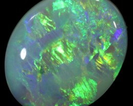 1.84 CTS  COOBER PEDY SOLID OPAL GREAT COLOUR PLAY --A54