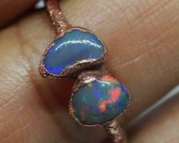 7.30CT OPAL RING WITH ELECTRIC FORM COPPER  TT694