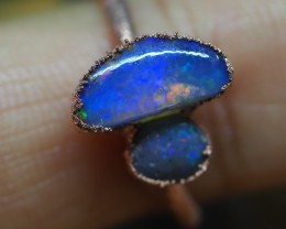 9.60CT OPAL RING WITH ELECTRIC FORM COPPER  TT695