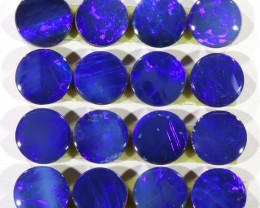 4.5CTS  16 PIECES CALIBRATED OPAL DOUBLET PARCEL GREAT COLOR PLAY -S284