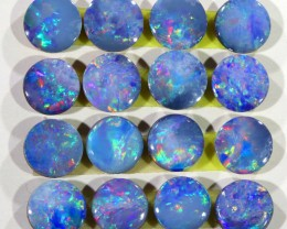 4.44CTS  16 PIECES CALIBRATED OPAL DOUBLET PARCEL GREAT COLOR PLAY -S293