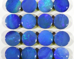 5.83CTS  16 PIECES CALIBRATED OPAL DOUBLET PARCEL GREAT COLOR PLAY -S300