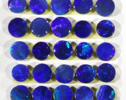 3.97CTS 25PIECES CALIBRATED OPAL DOUBLET PARCEL GREAT COLOR PLAY -S302