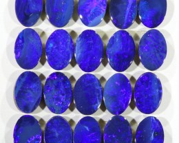 6.73CTS  20 PIECES CALIBRATED OPAL DOUBLET PARCEL GREAT COLOR PLAY -S303