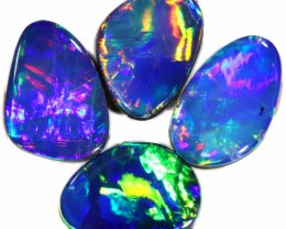 3.59 CTS  4 OPAL DOUBLET PARCEL DEAL GREAT COLOUR PLAY-A52