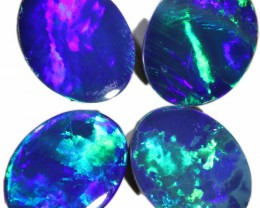 5.03 CTS  4 OPAL DOUBLET PARCEL DEAL GREAT COLOUR PLAY-A53