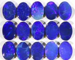 8.35CTS  15 PIECES CALIBRATED OPAL DOUBLET PARCEL GREAT COLOR PLAY -S313