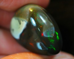 24.03ct UNTREATED Dark Tone Crystal Polished Opal