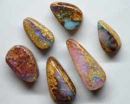 20.60CT VIEW PIPE GEM WOOD REPLACEMENT BOULDER OPAL OI453
