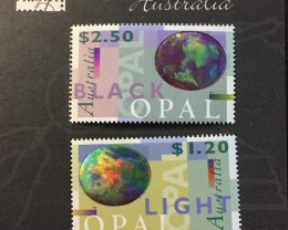 two opal stamps, black and white opal CO 1460 AA