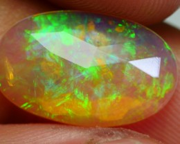 2.10 CRT BRILLIANT FLAT FACETED CRYSTAL CLEAR GRASS RIBBON PATTERN WELO OPA