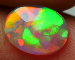 1.05 CRT BEAUTYFUL FLAT FACETED BROADFLASH BLOCK NEON PLAY COLOR WELO OPAL-