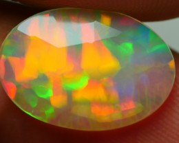 2.35 CRT BEAUTY FLAT FACETED RIBBON GRASS PLAY MULTICOLOR WELO OPAL-