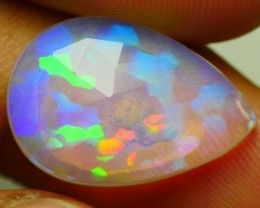 4.90 CRT CRYSTAL CLEAR FLAT FACETED NEON PRISM PUZZLE MULTICOLOR WELO OPAL-