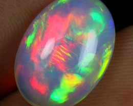 4.00cts STRONG BROAD RAINBOW FIRE Natural Ethiopian Welo Opal