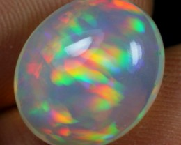 5.05cts DOUBLE PEACOCK FEATHER Natural Ethiopian Welo Opal