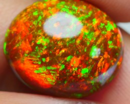 6.70 CRT INCREDIBLE BROWN BASE FULL PIN FIRE NEON BRIGHT WELO OPAL-