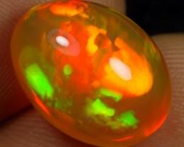 AAA 7.65cts Strong Orange Green Fire Ethiopian Opal